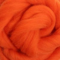 Wool Sliver - Orange