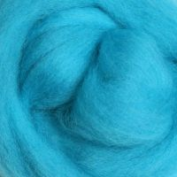 Wool Sliver - Fluro Blue