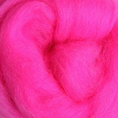 Wool Sliver - Fluro Pink C