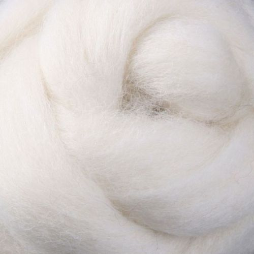 Wool Sliver - White / cream Natural C