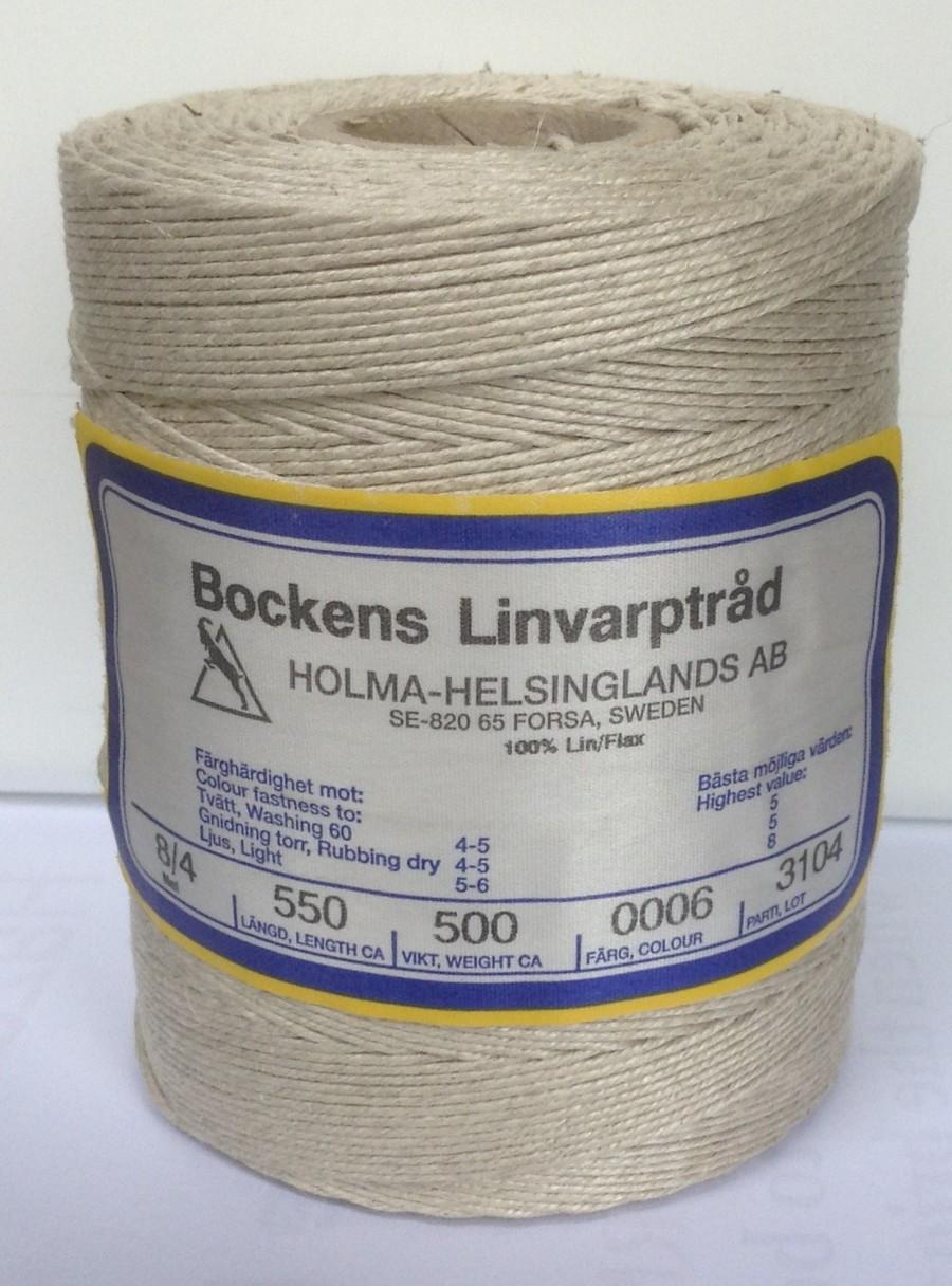 Linen Rug Warp Yarn Swedish Bockens
